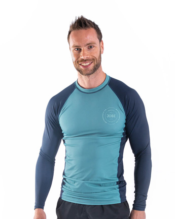 Jobe Rash Guard Longsleeve Men Vintage Teal
