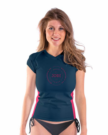 Jobe Rash Guard Shortsleeve Women V-Neck Midnight Blue